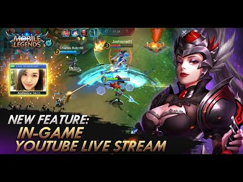 cara Live Streaming Mobile Legend di youtube