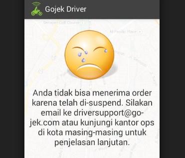 Cara Membuka Suspend Driver Gojek