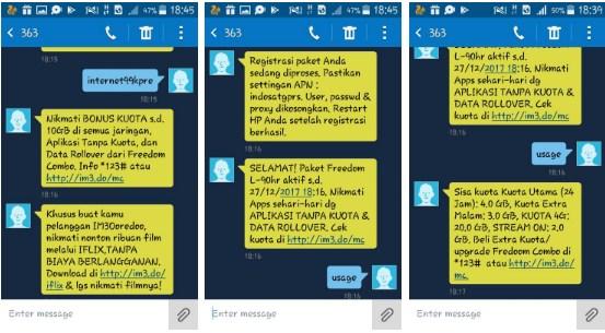 Cara daftar Indosat Internet99kpre