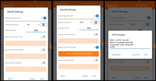 Cara Setting anonyTun VPN telkomsel dan axis