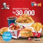 Cara Menukar Poin Telkomsel Dengan Voucher KFC 50 Ribu