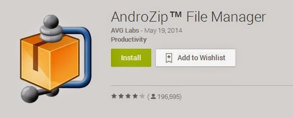 aplikasi android gratis androzip fime manager