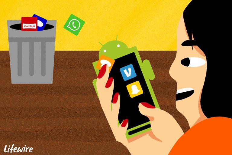 hapus data sampah android