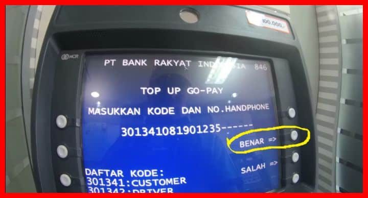 cara top up gopay via bank bri