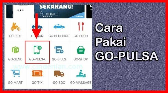 cara pakai go pulsa untuk beli kuota internet di aplikasi gojek