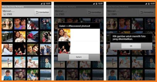 cara mengembalikan file foto terhapus di android dengan aplikasi foto Recovery